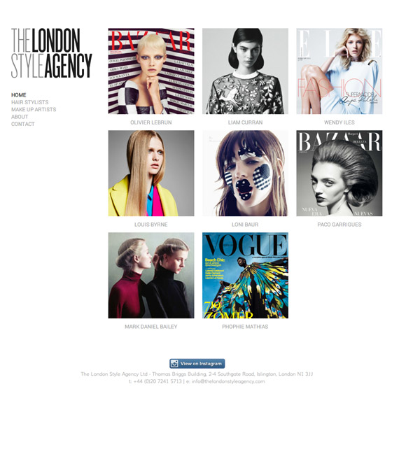 The London Style Agency built by ifnotwhynot - ifnotwhynot.com